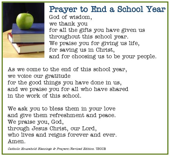 Image result for images of end of year blessing for students